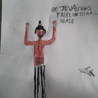 Trop mignon dessin d'un fan