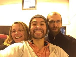 Avec Muriel et Thomas (coachs)
